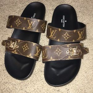 4a0a45b6e6a3 Louis Vuitton Shoes - Louis Vuitton Bom Dia Mule Slides